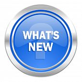 new icon, blue button