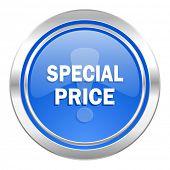 special price icon, blue button