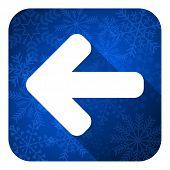 left arrow flat icon, christmas button, arrow sign