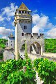 medieval pont in Cahors, France