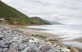 Stones on the beach of Atlantic Ocean.