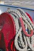 Rope Coil On Industrial Ship
