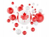 3D National Flag Of Canada Isolated On White Background