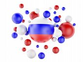 3D National Flag Of Russia Isolated On White Background