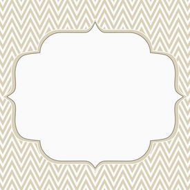 foto of chevron  - Beige and White Chevron Zigzag Frame Background with center for copy - JPG