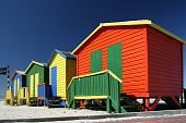 Colorful Beach Change Rooms