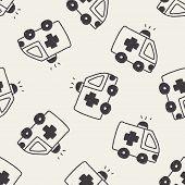 image of ambulance  - Ambulance Doodle Drawing - JPG