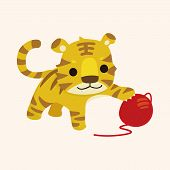 pic of cute tiger  - animal tiger cartoon theme elements - JPG