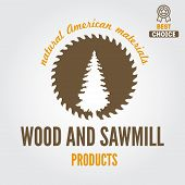 stock photo of carpentry  - Logo or logotype element for sawmill - JPG