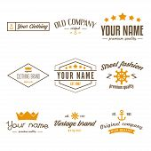 Retro Vintage Insignias, logo or Logotype set poster