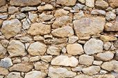 foto of wall-stone  - Old wall of stones - JPG