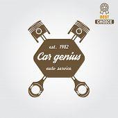 stock photo of garage  - Logo and logotype element for mechanic - JPG