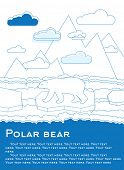 foto of global-warming  - Polar bear on an ice floe in ocean Possible result of global warming Vector illustration for magazines or newspapers - JPG