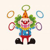 picture of circus clown  - circus clown theme elements - JPG