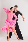 picture of  dancer  - Ballroom dancers dancing - JPG