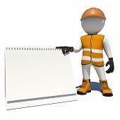 foto of vest  - Worker in vest - JPG