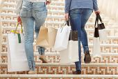 stock photo of upstairs  - Passionate shoppers - JPG