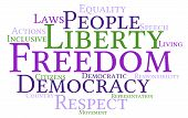 foto of freedom speech  - Freedom word cloud on a white background - JPG