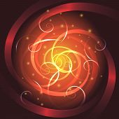 picture of starlet  - Abstract colorful swirl background drawn in fantasy style - JPG