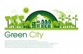image of ecosystem  - Green Eco city living concept - JPG