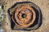 beached wheel