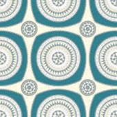 pic of blue things  - Seamless pattern with circle ornament  in beige blue colors and Antique style for decorate different things - JPG