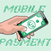 pic of electronic banking  - Mobile Payment using Smartphone and Credit Card - JPG