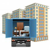 foto of track home  - Home furniture transportation with track and multistory - JPG