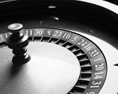 picture of roulette table  - Old Roulette wheel - JPG