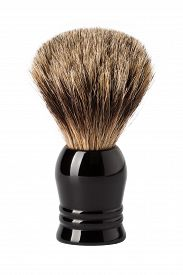foto of raccoon  - Classic shaving brush with raccoon fur isolated on white - JPG
