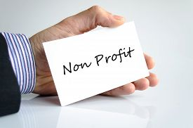 picture of generous  - Non Profit note in business man hand  - JPG