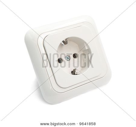 White Power Outlet and socket