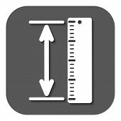 stock photo of measuring height  - The measuring height and length icon - JPG
