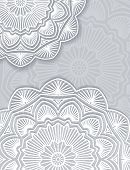 pic of gamma  - Abstract vector lace design with decorative mandala and copyspace in popular gray and white gamma - JPG