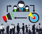 stock photo of mentoring  - Coaching Leadership Mentoring Target Concept - JPG