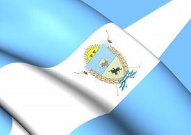 pic of pampa  - 3D Flag of La Pampa Province Argentina - JPG