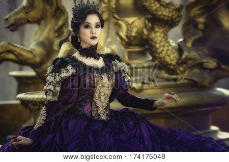 poster of A beautiful girl wearing a beautiful princessprincess girl.