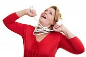 Strangling With Extension Cable