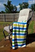 Chair With Striped Towel