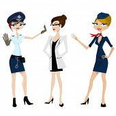 picture of air hostess  - police - JPG