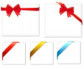 Collection of bows and ribbons. Vector.