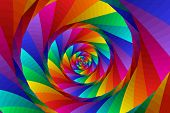 Spiral In Rainbowcolors 2