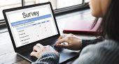 Customer satisfaction online survey form poster