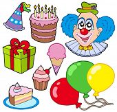 Collection of party images - vector illustration.