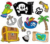 pic of buccaneer  - Buccaneer collection on white background  - JPG