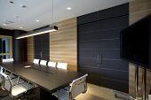 interior of a modern boardroom