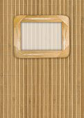 Wooden framework on a bamboo background
