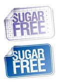 Set of labels for sugar free food