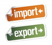 Import and export stickers set