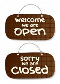 picture of nail-art  - open and closed signs - JPG